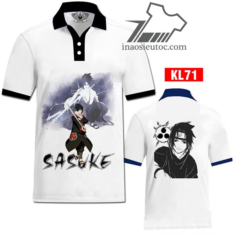 In áo phông Sasuke giá rẻ tại Hà Nội - In áo theo yêu cầu