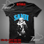 Áo phông đen Sanji - Áo One Piece theo yêu cầu
