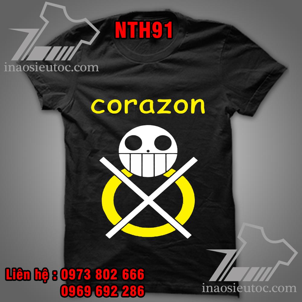 Áo phông đen Cozaron - Áo One Piece in theo yêu cầu giá rẻ tại Bạc Liêu