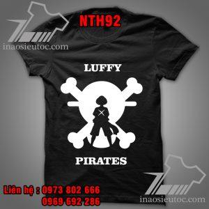 Mẫu áo thun Luffy One Piece tại Hà Nội