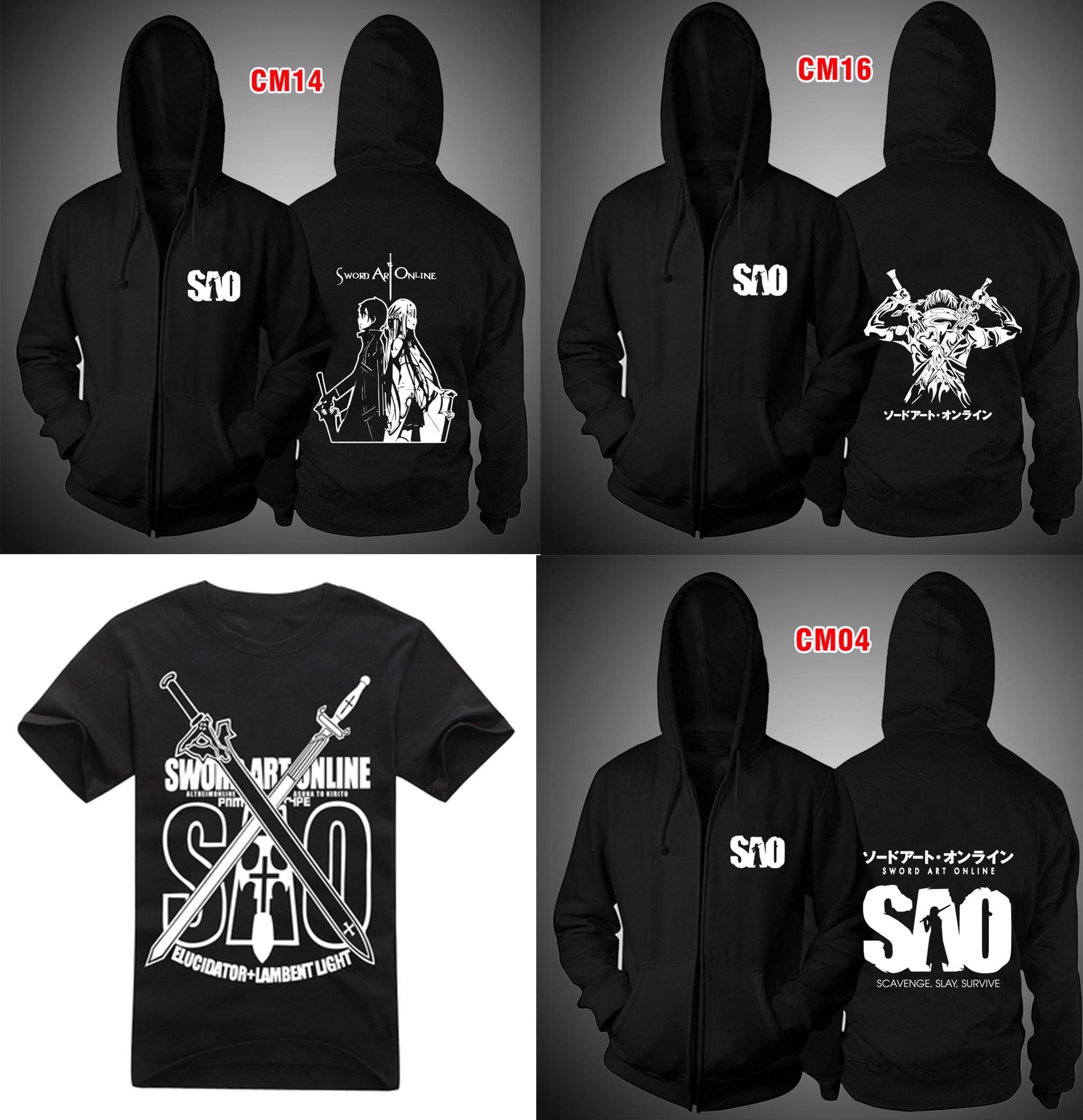 Tổng hợp các mẫu áo thun - áo khoác Sword Art Online - áo SAO theo yêu cầu giá rẻ