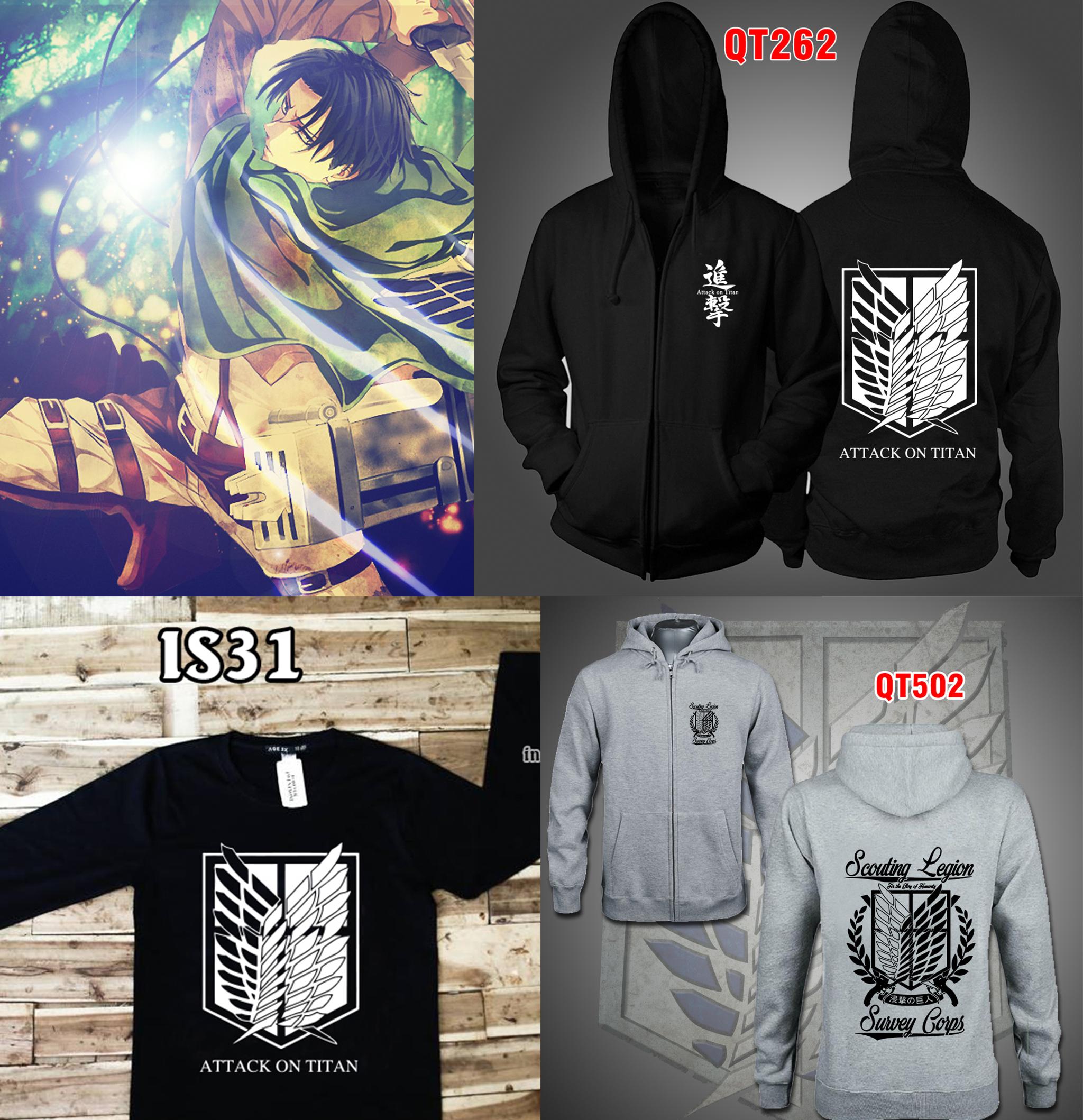 áo khoác attack on titan tphcm giá rẻ in theo yêu cầu