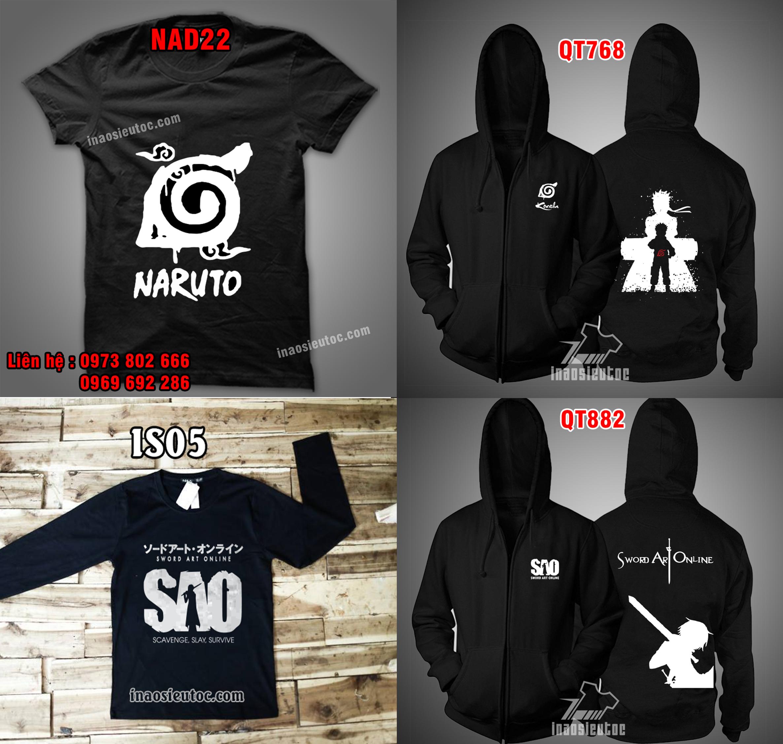 Shop áo Naruto giá rẻ in theo yêu cầu ở hà nội