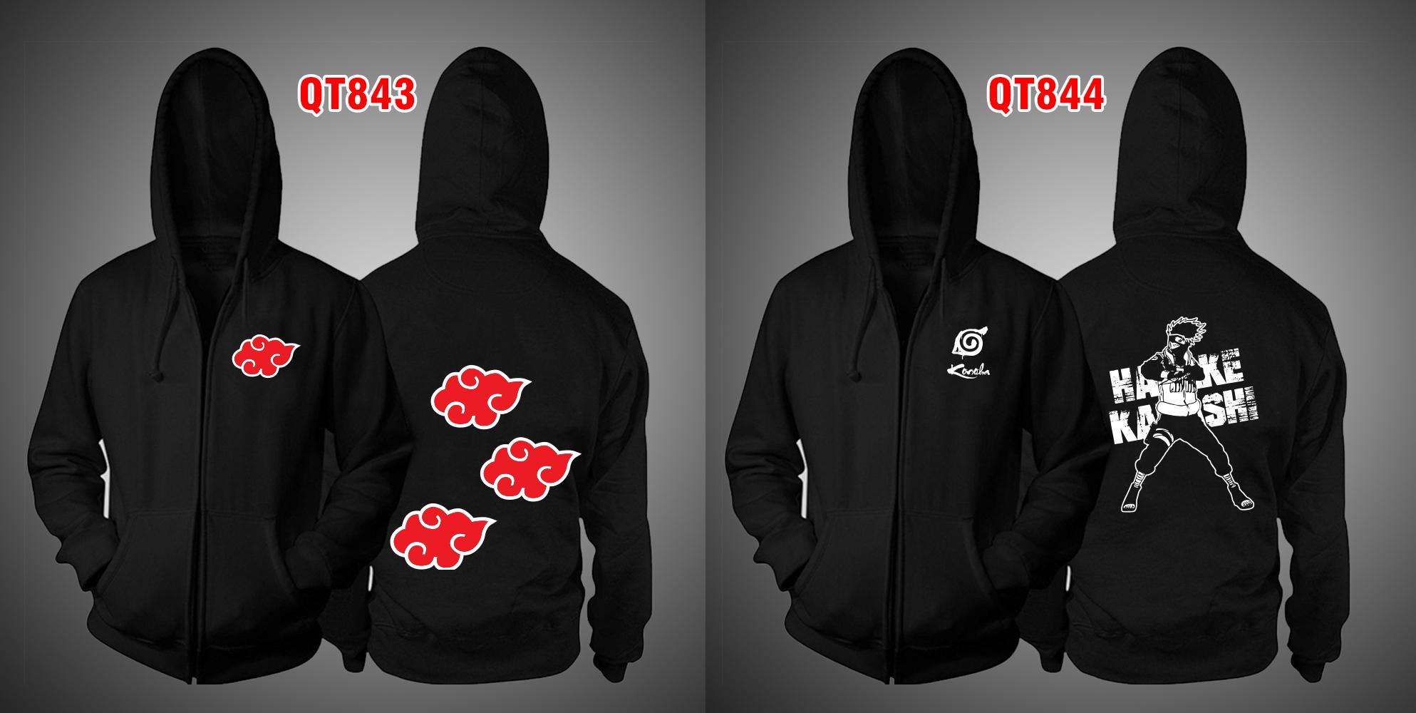 Áo khoác đen Akatsuki - Áo Naruto theo yêu cầu giá rẻ