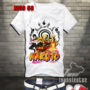 Áo phông in hình Naruto - thiết kế theo yêu cầu miễn phí