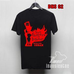 Áo phông đen Conan Detective độc nhất -inaosieutoc.com-áo anime manga