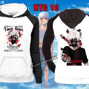 Mẫu áo Hoddie Ken Kaneki Tokyo Ghoul đẹp được khách hàng yêu thích nhất