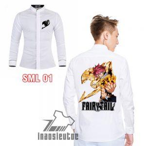Shop bán áo sơ mi Fairytail đẹp - áo in hình Natsu theo yêu cầu