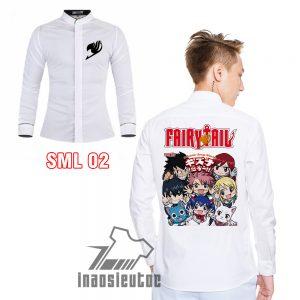 Áo Manga áo sơ mi Fairy Tail in theo yêu cầu độc đẹp