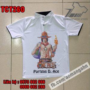In lẻ áo thun Ace - One Piece đẹp nhất ở hải phòng