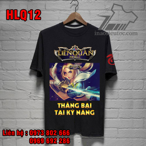 Áo đen cổ tròn Butterfly Liên Quân, giá rẻ, chất lượng ở Hà Nội