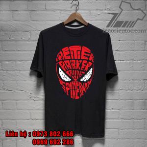 áo phông siêu anh hùng spider man đẹp, giá rẻ - inaosieutoc ở hải phòng