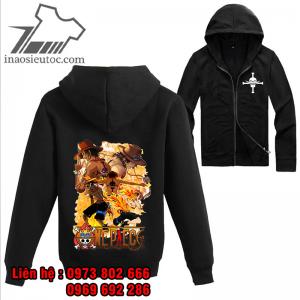 Áo khoác đen One Piece Ace, giá rẻ ở hà nội