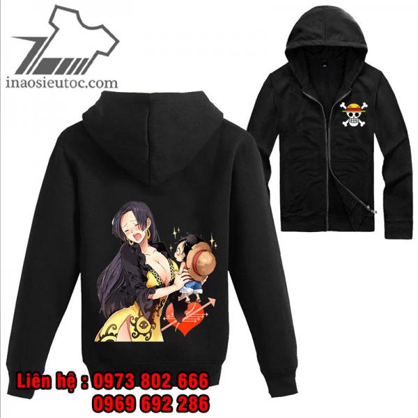 Áo khoác đen One Piece Boa Hancock - Luffy, giá tốt nhất ở đồng nai