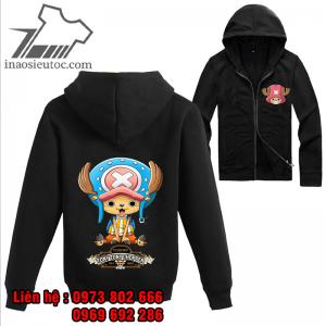 Áo khoác đen One Piece Chopper, chất lượng ở bình dương