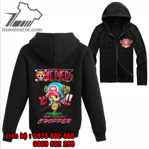 Áo khoác đen One Piece Chopper, uy tín, chất lượng ở bắc giang