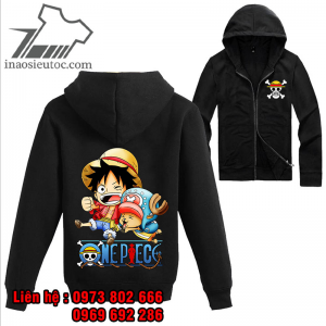 Áo khoác đen One Piece Luffy - chopper, cực chất ở vĩnh phúc