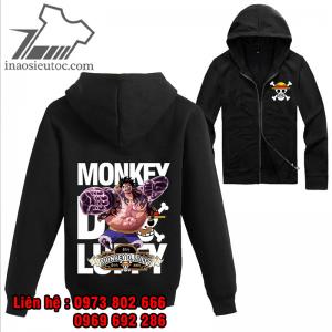 Áo khoác đen One Piece Luffy gear 4, cực độc ở bắc ninh