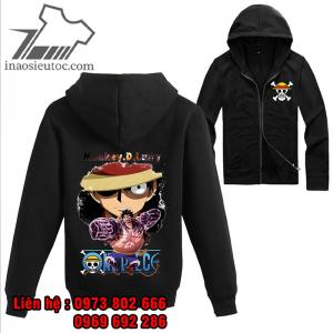 Áo khoác đen One Piece Luffy, độc nhất ở quảng ninh