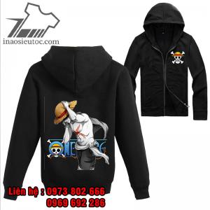 Áo khoác đen One Piece Luffy, đẹp rẻ ở cà mau