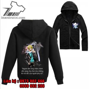 Áo khoác đen One Piece Sanji, giá rẻ ở hà giang