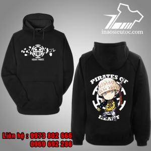 Áo Hoodie đen Law chibi One Piece giá rẻ ở hà nội