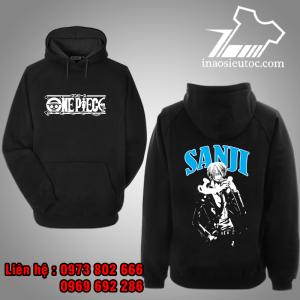 Áo Hoodie đen Sanji One Piece chất lượng ở ình phước