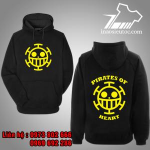 Áo Hoodie đen logo Law One Piece đẹp rẻ ở ninh thuận